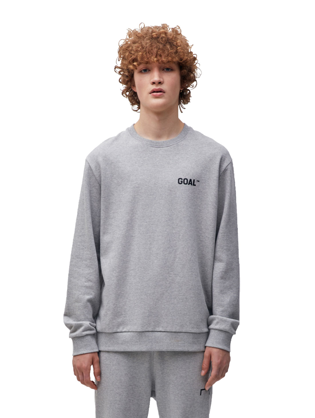 BACK LOGO SWEATSHIRT - GRAY