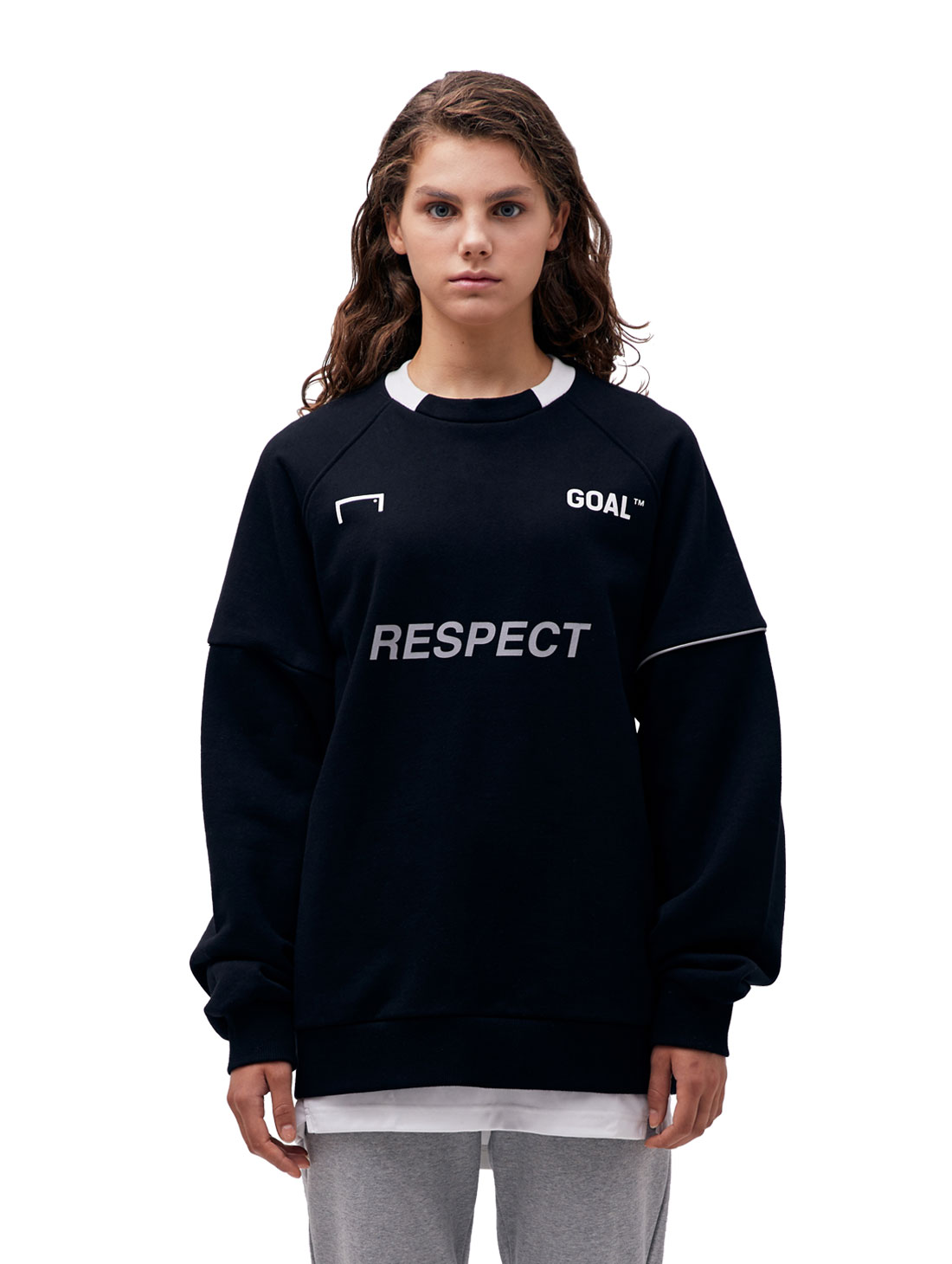 (Sold Out) RESPECT SWEATSHIRT - BLACK