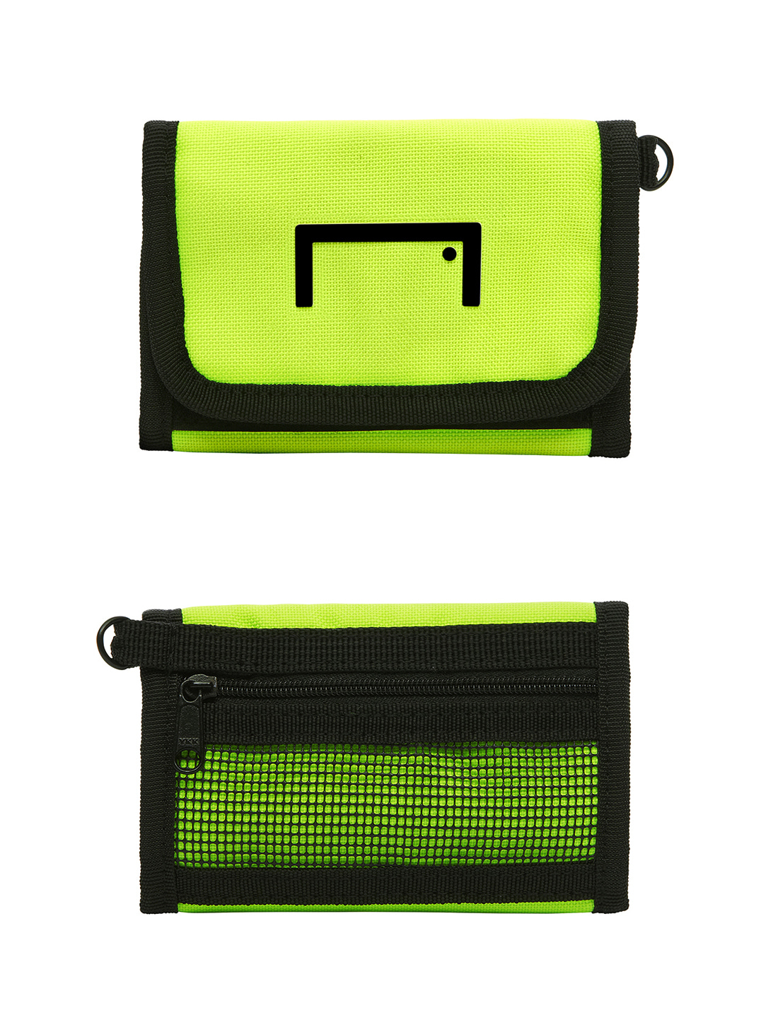 VELCRO WALLET - LIME