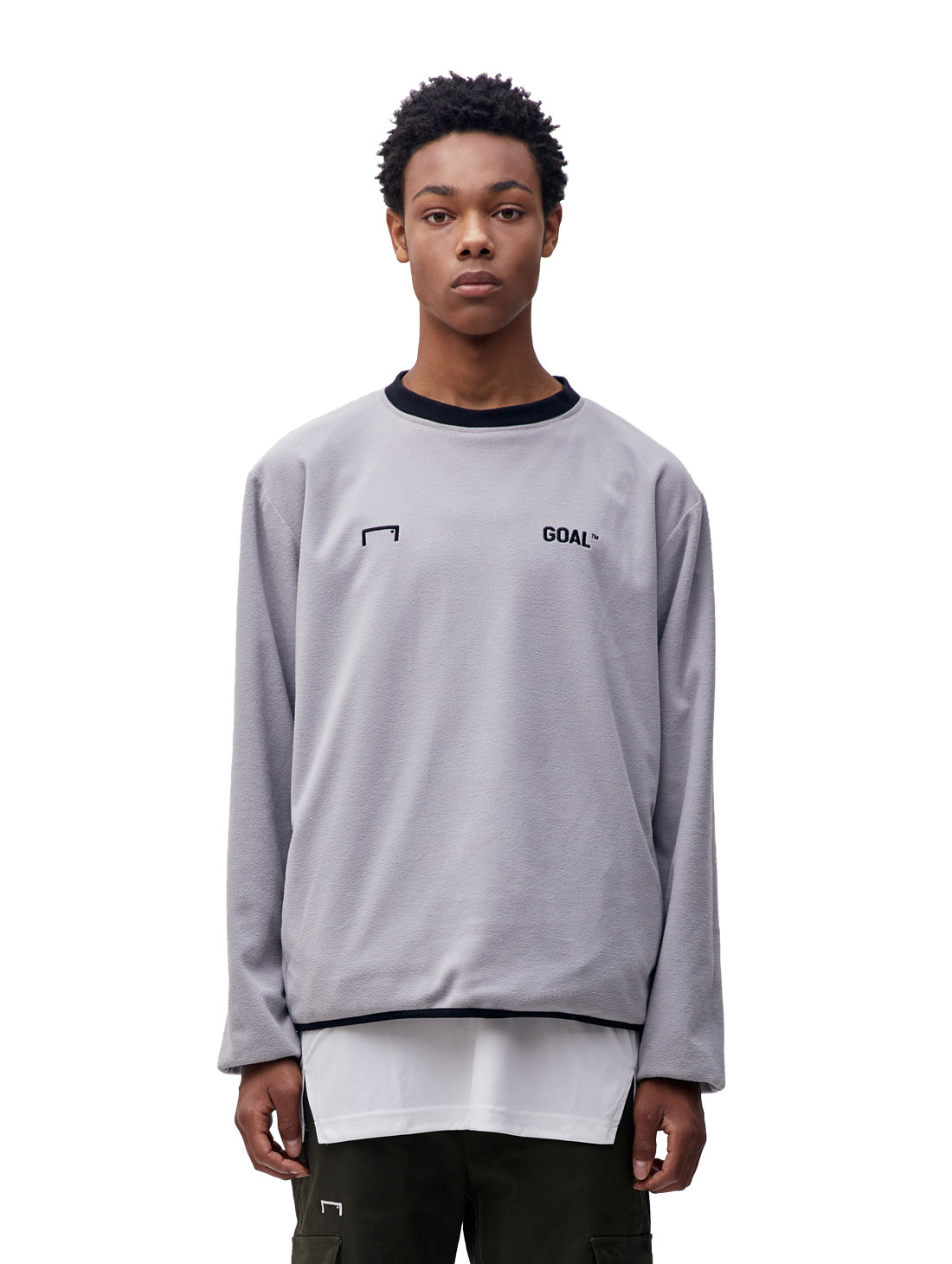 REVERSIBLE PULLOVER - GREY/BLACK