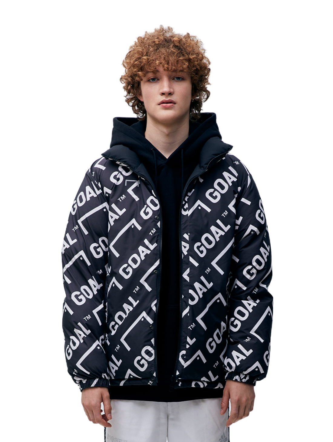 REVERSIBLE DOWN PARKA - BLACK/GREY