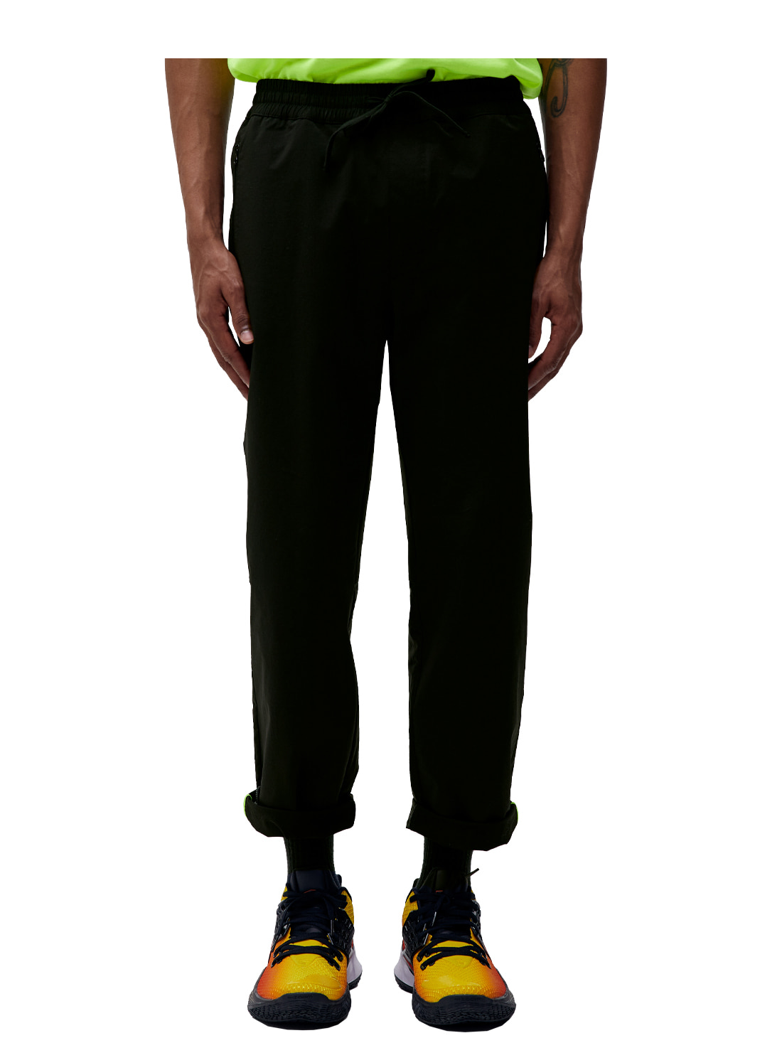 DRAW STRING PANTS - BLACK