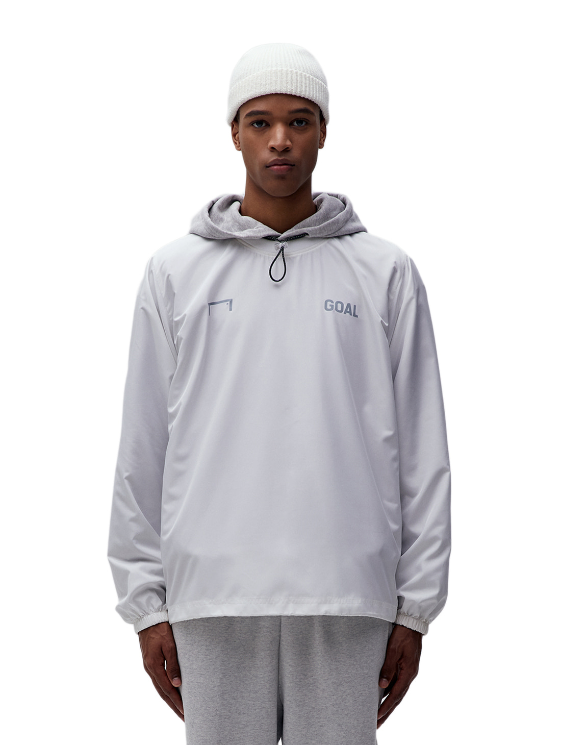 SOLID WIND PULLOVER - WHITE