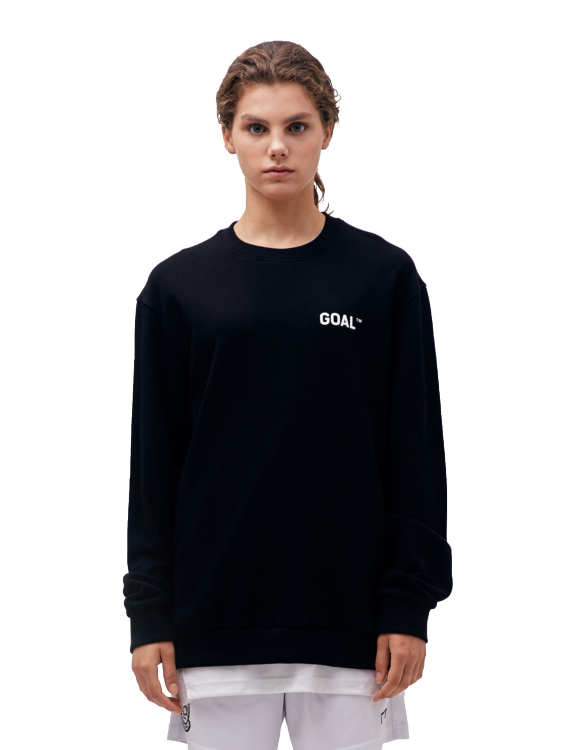 BACK LOGO SWEATSHIRT - BLACK
