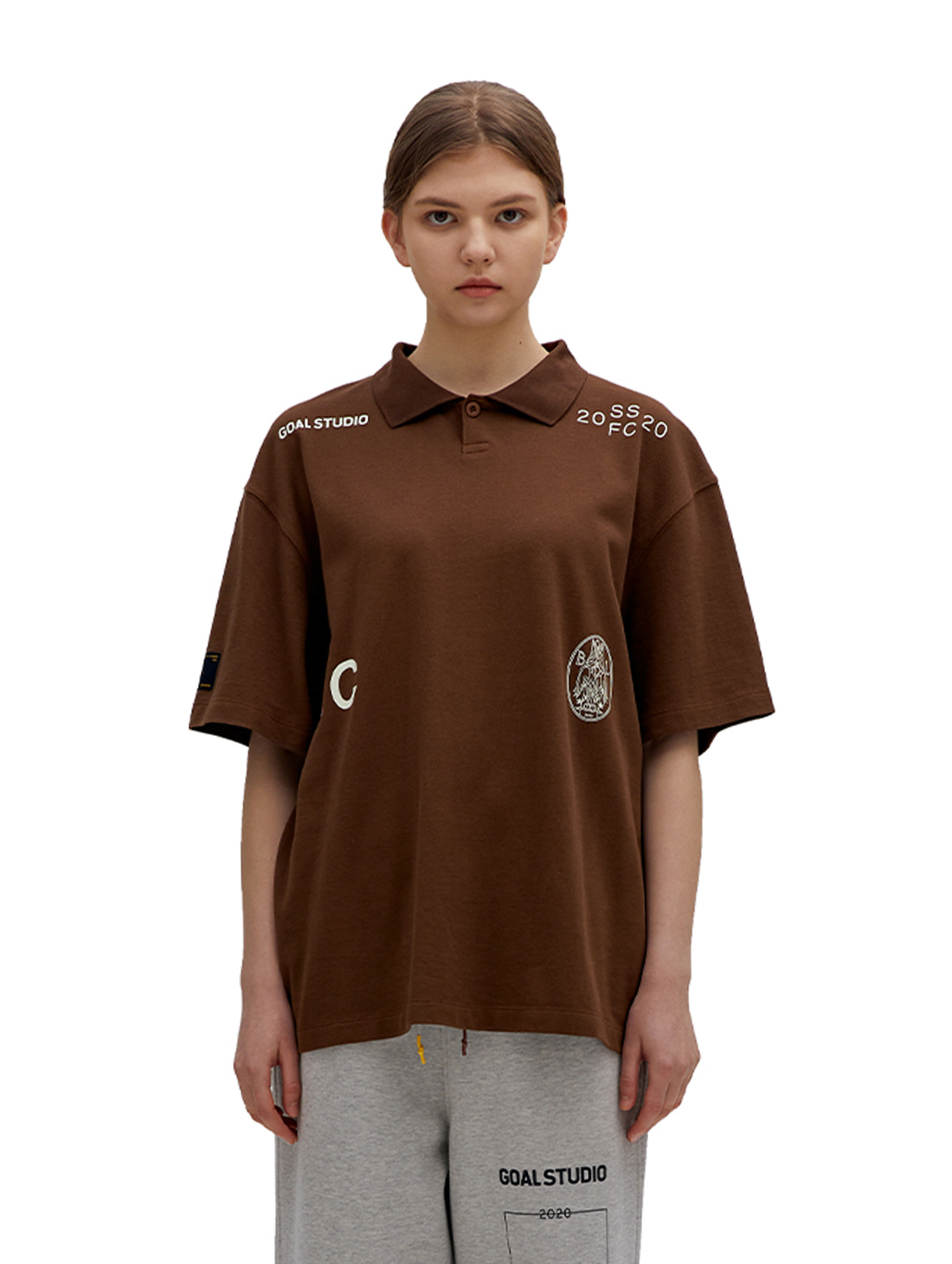 SSFC PIQUE COLLAR SHIRT - BROWN