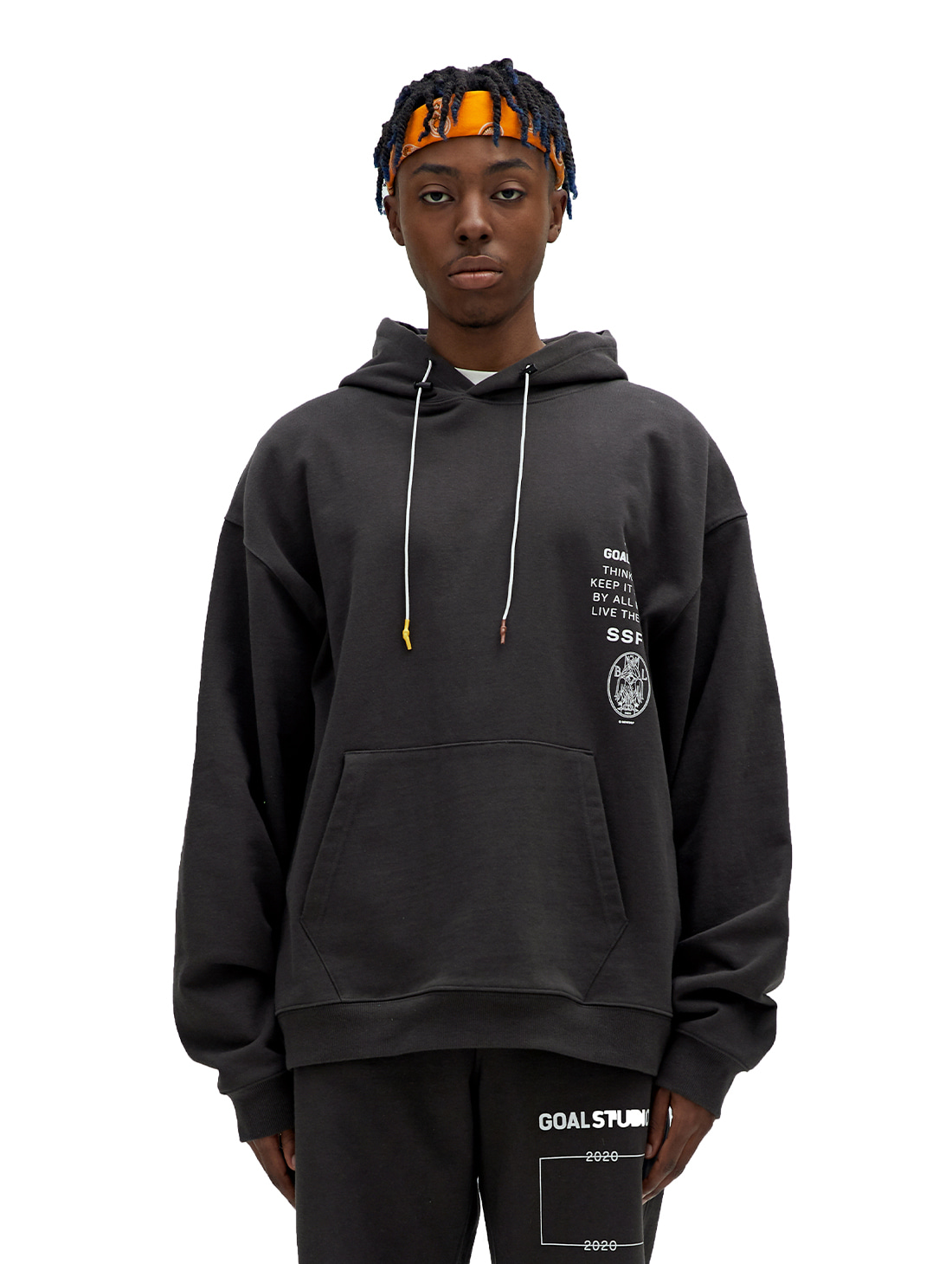 SSFC JERSEY HOODED SWEATSHIRT - CHARCOAL