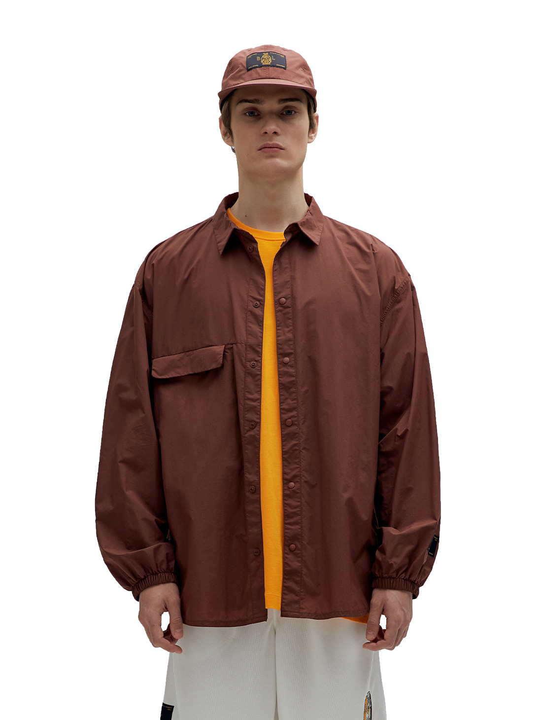 SSFC WINDBREAKER SHIRT - BROWN