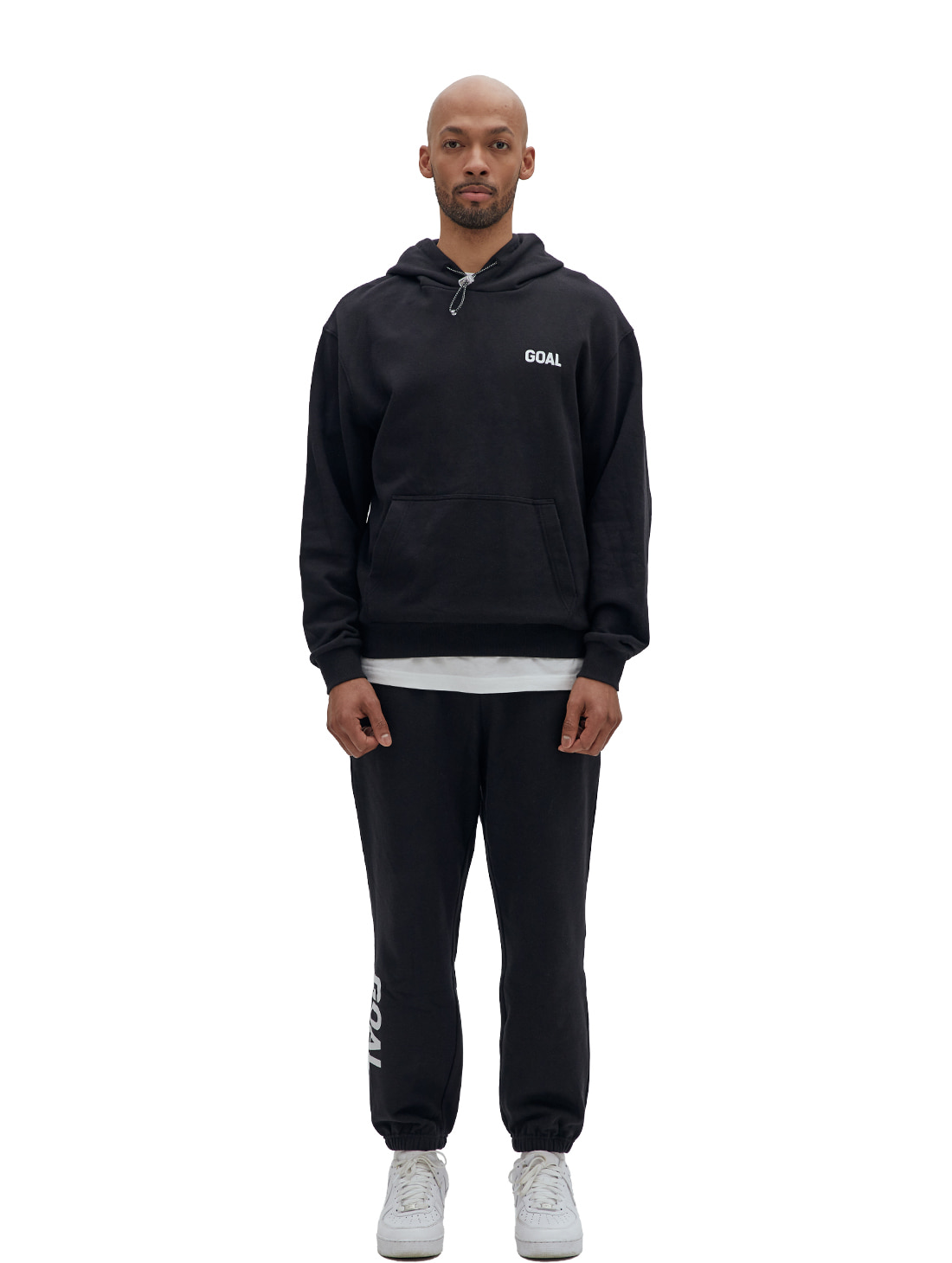 [10% OFF] FLOCKING HOODIE & PANTS SET - BLACK