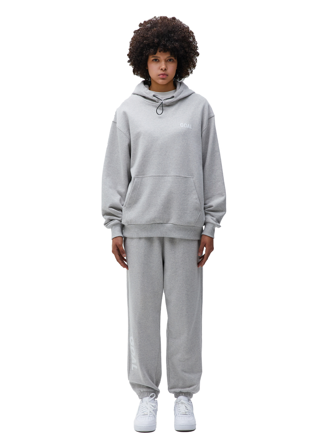 [10% OFF] FLOCKING HOODIE & PANTS SET - GREY