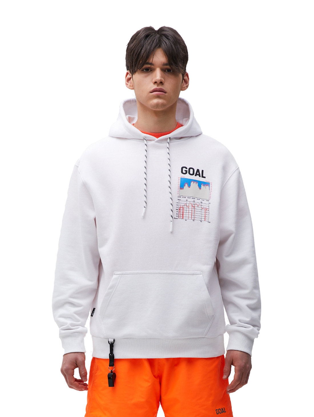 PULSE GRAPHIC HOODIE - WHITE