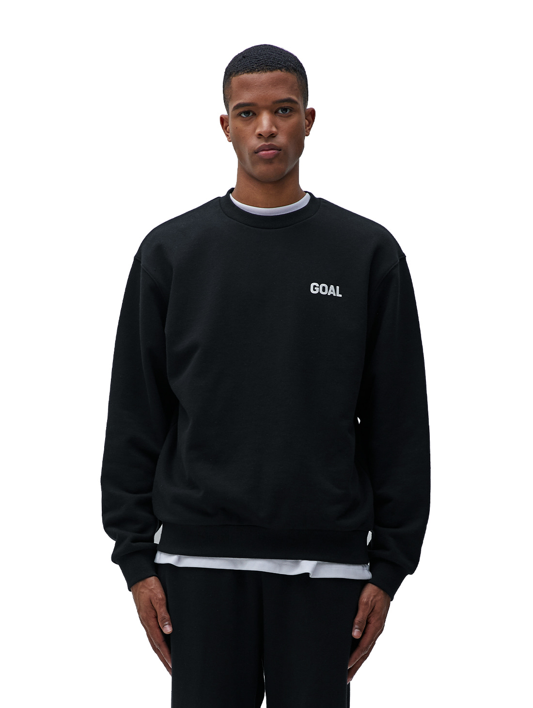 FLOCKING SWEATSHIRT - BLACK