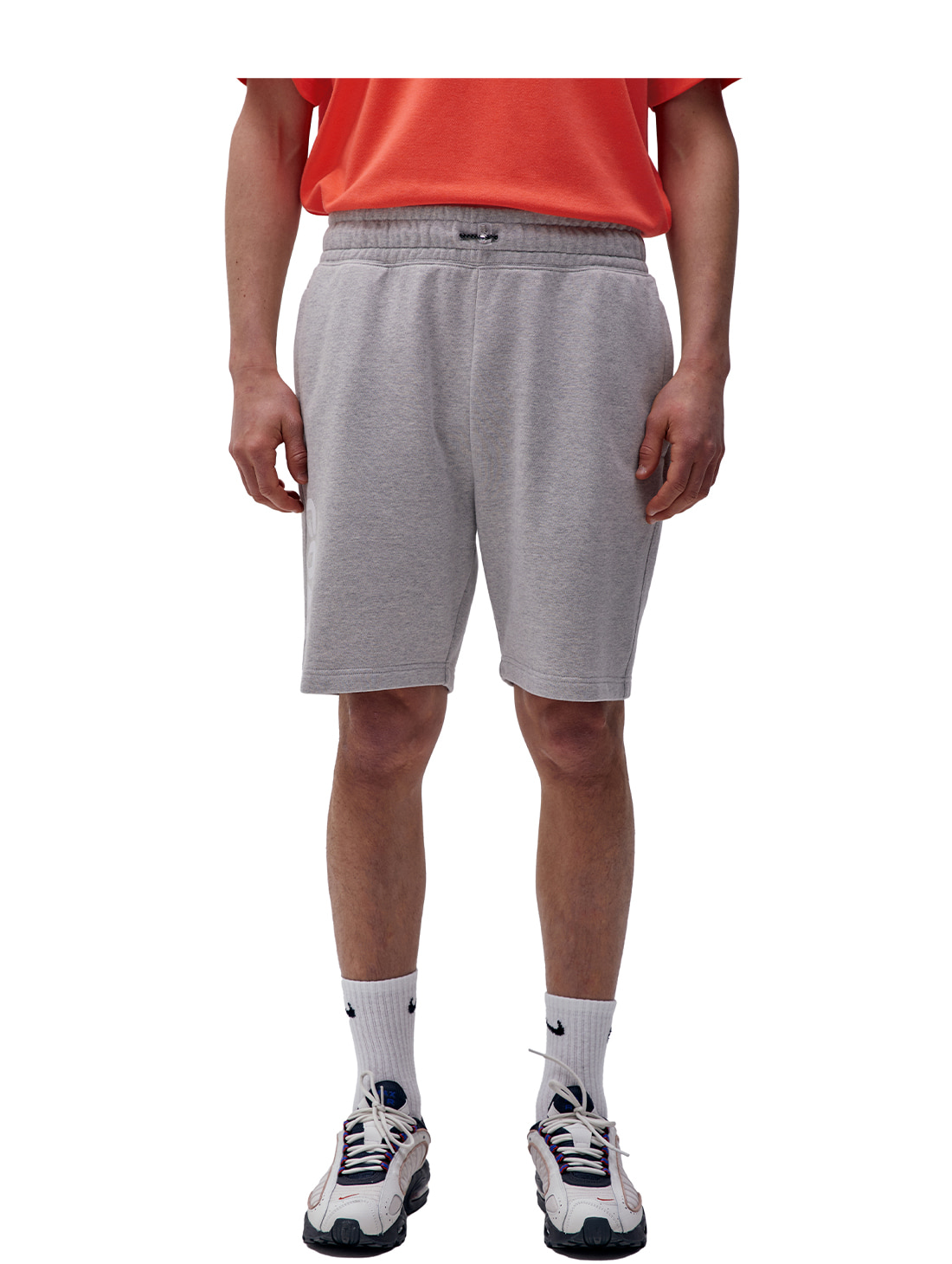 FLOCKING HALF PANTS - GREY