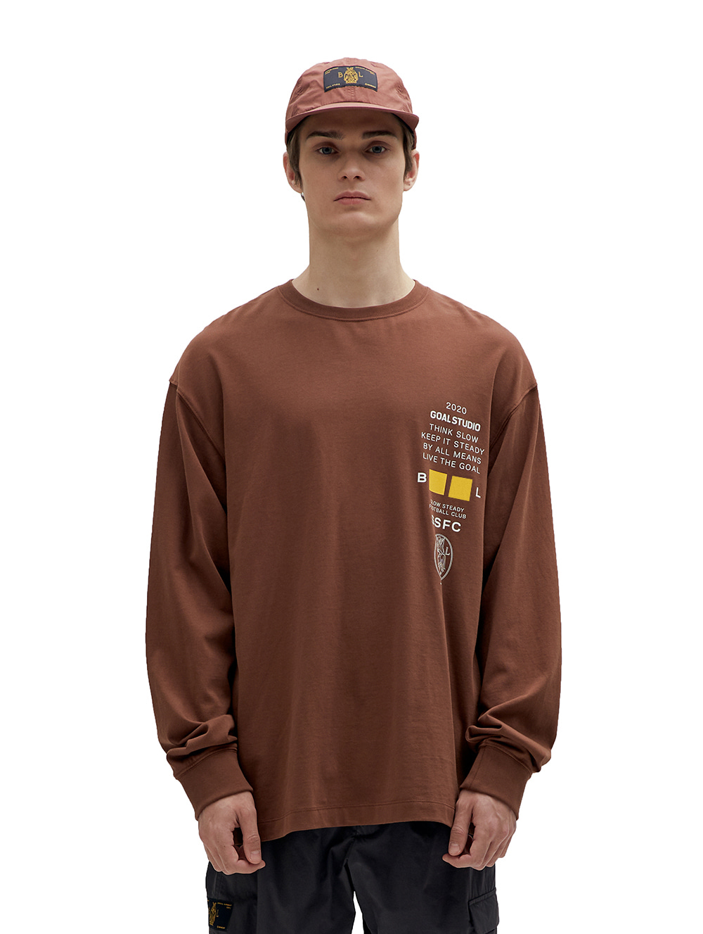 SSFC JERSEY SINGLE LONG SLEEVE - BROWN