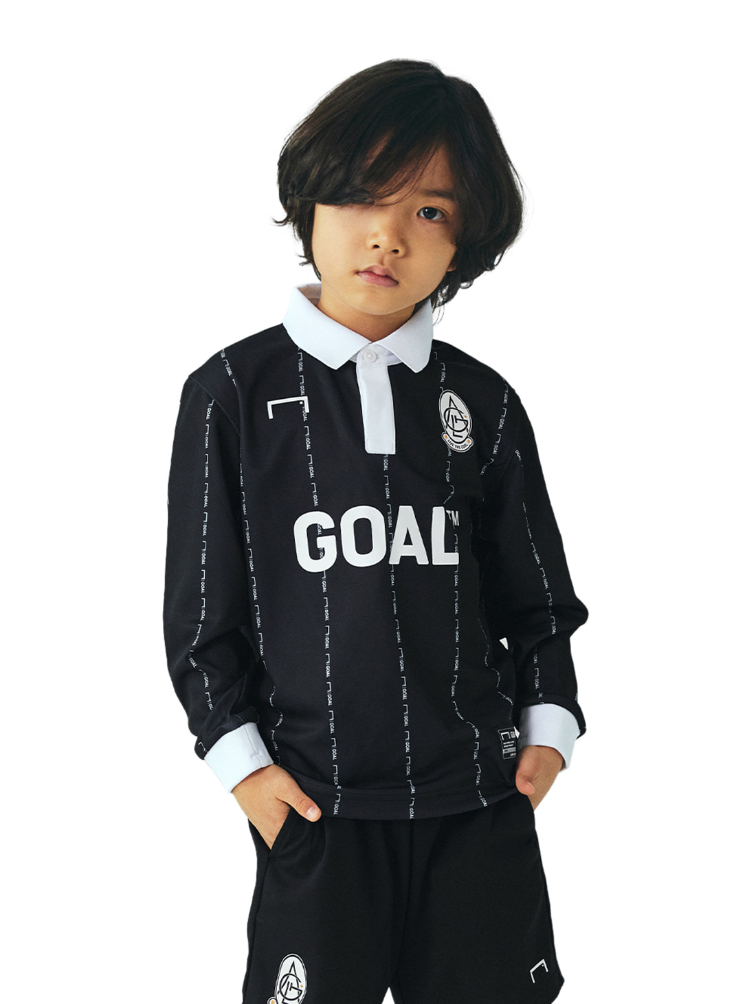 (KIDS) PLAYER EMBLEM JERSEY - BLACK