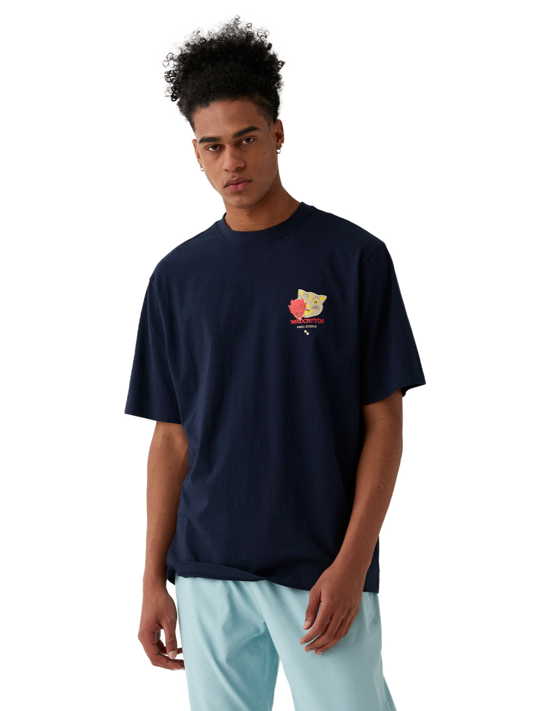 MC MASK GRAPHIC TEE - NAVY