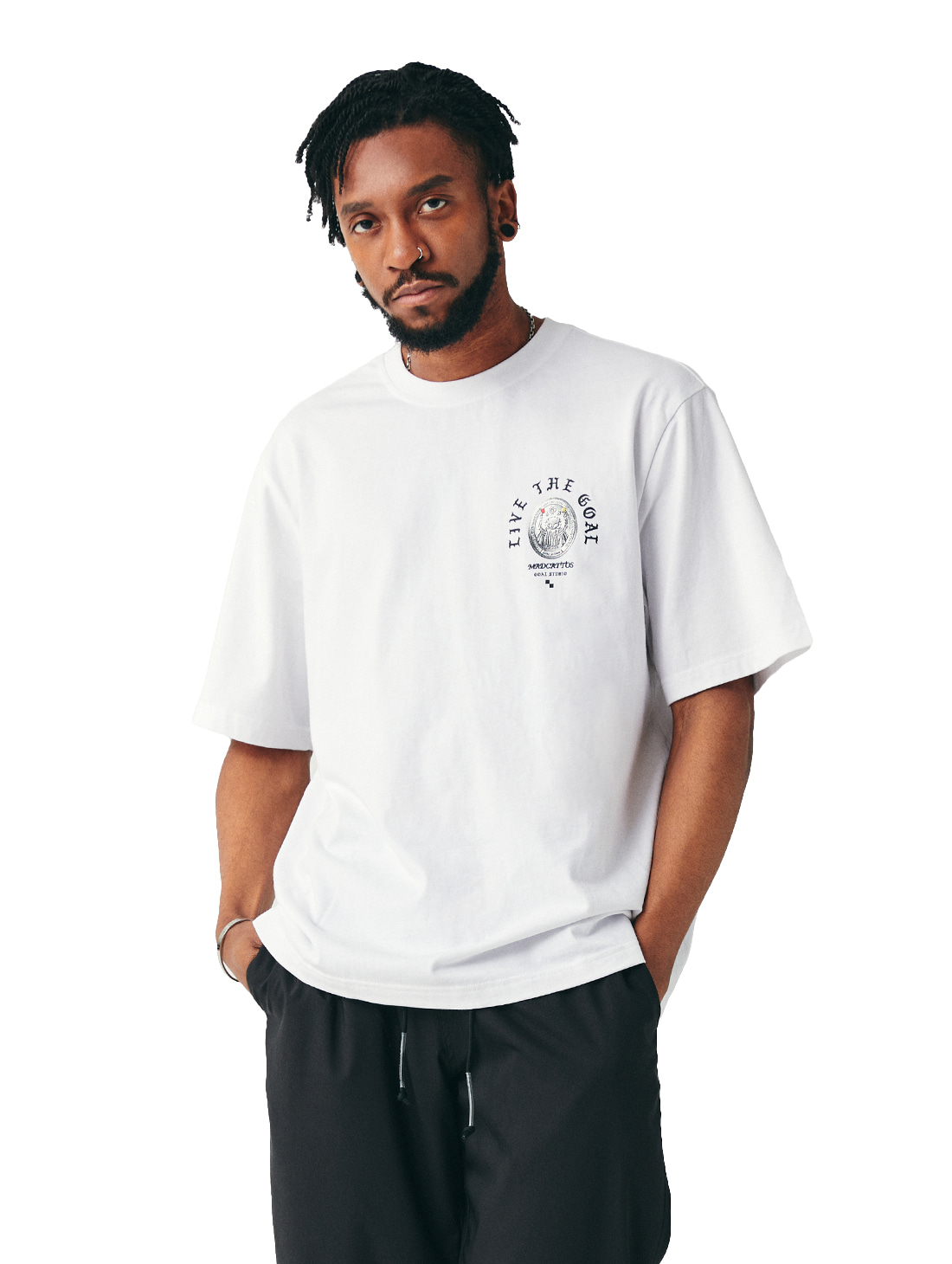 MC COIN GRAPHIC TEE - WHITE