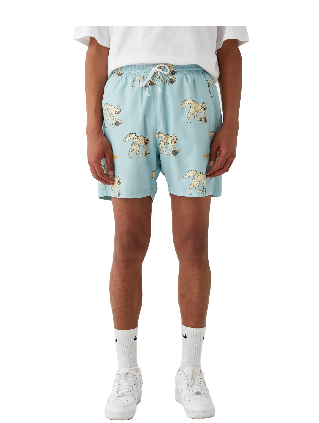 MC ALL OVER PATTERN SHORTS - LIGHT BLUE