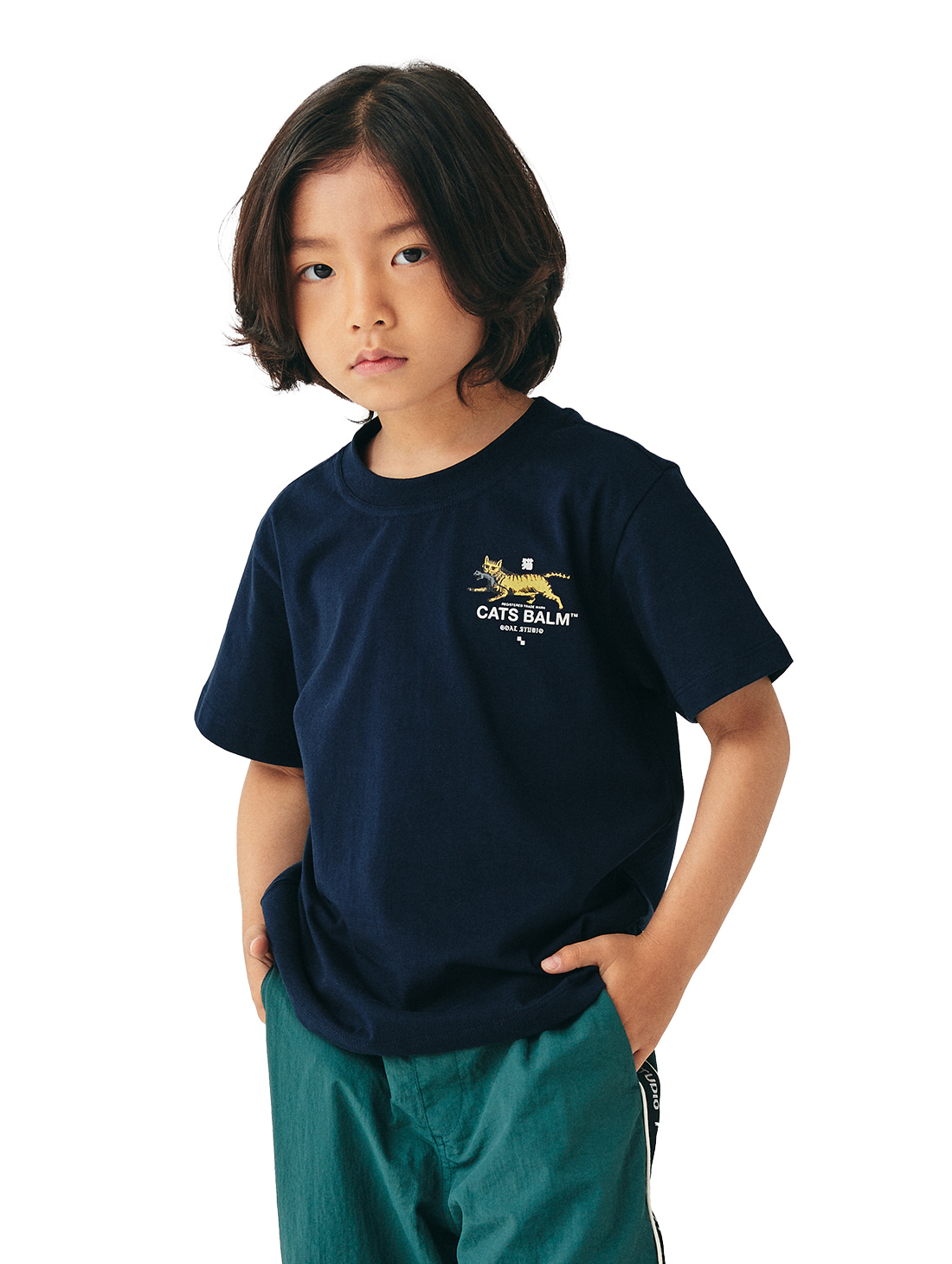 (KIDS) MC BALM GRAPHIC TEE - NAVY