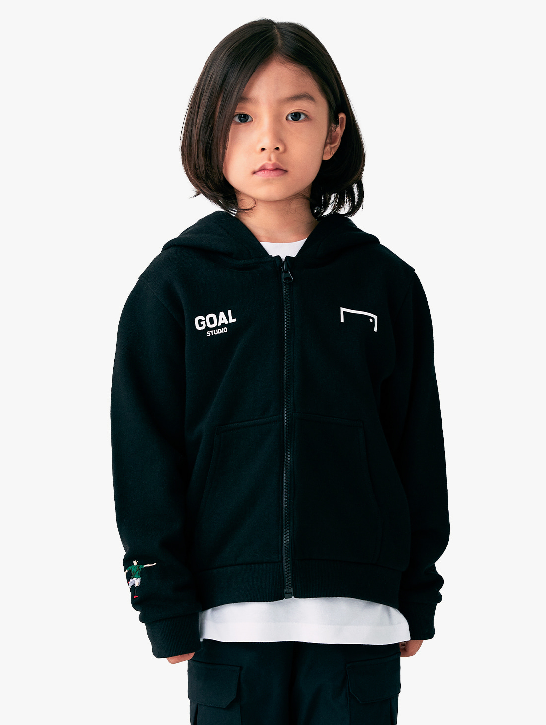 (KIDS) SIGNATURE ZIP UP HOODIE​ (3 Colors)
