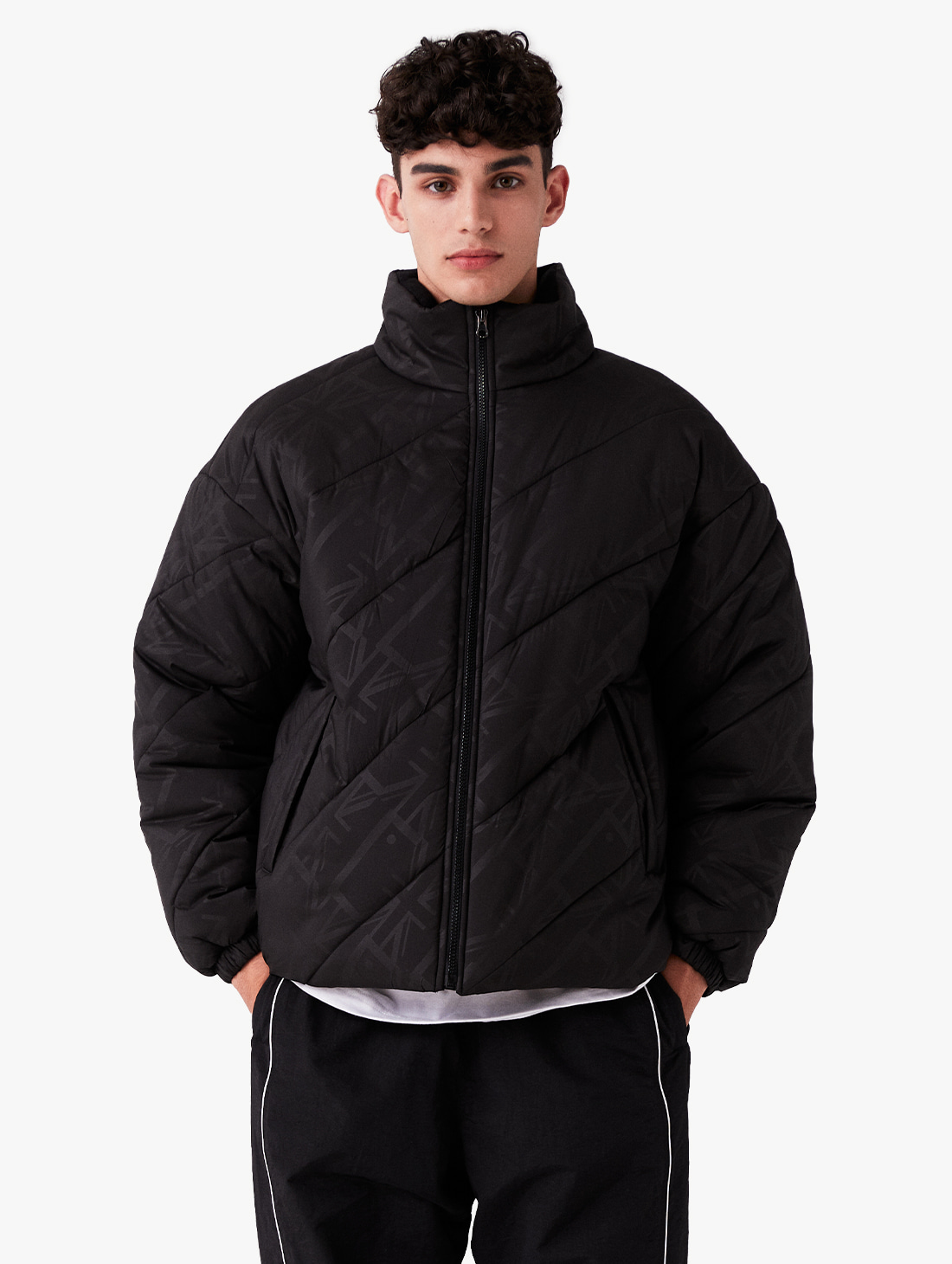 [PRE-ORDER 10% OFF] WWFC DIAGONAL EMBO PADDED JACKET