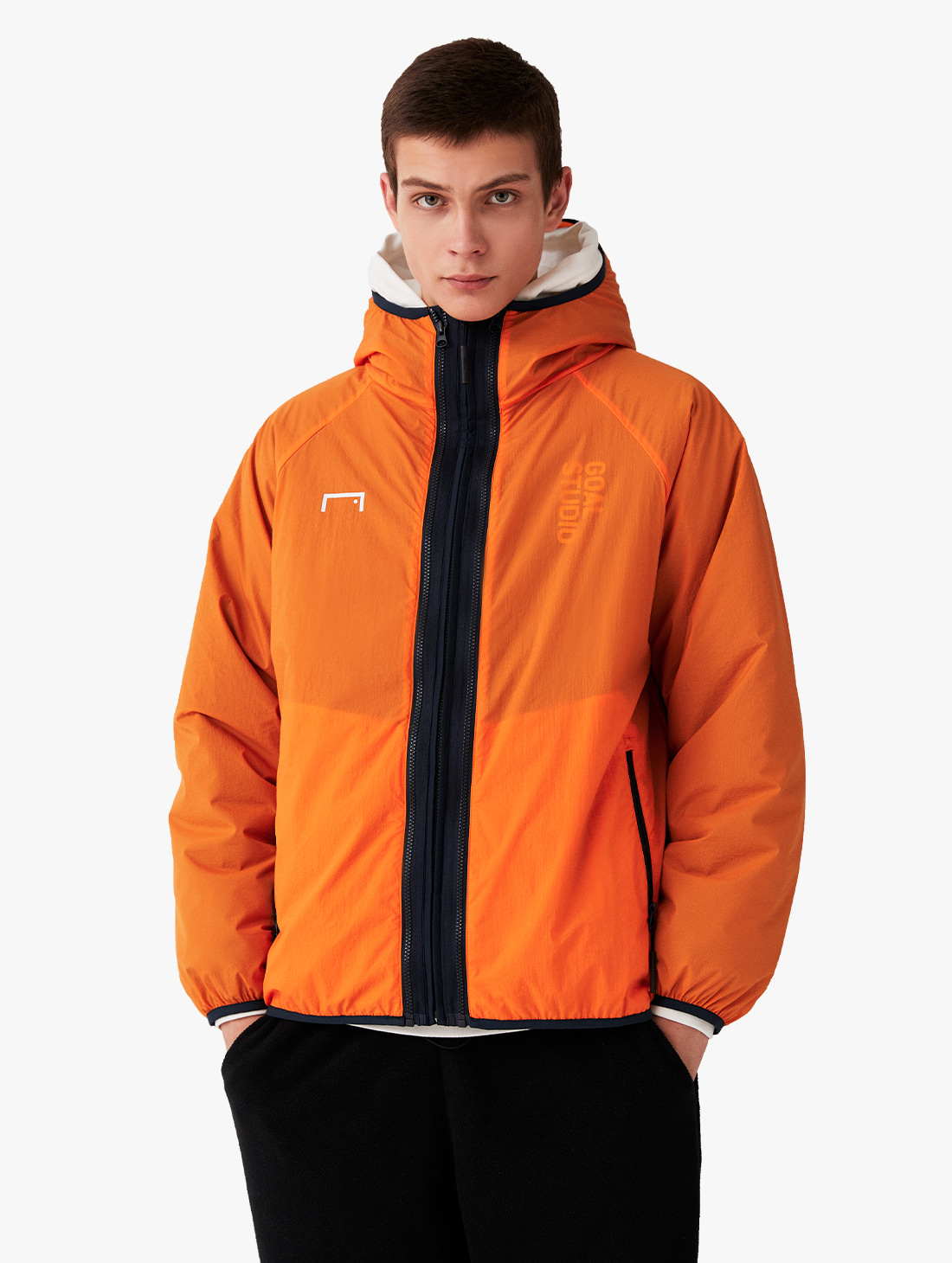 2IN1 THINSULATE JACKET - ORANGE/NAVY