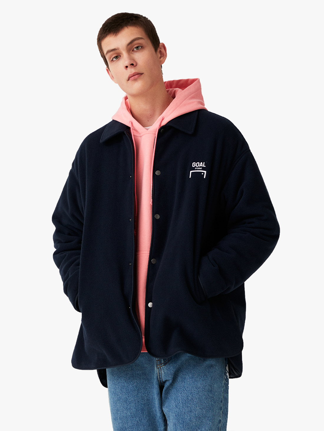 OVERSIZED FLEECE SHIRTS JACKET (2 Colors)