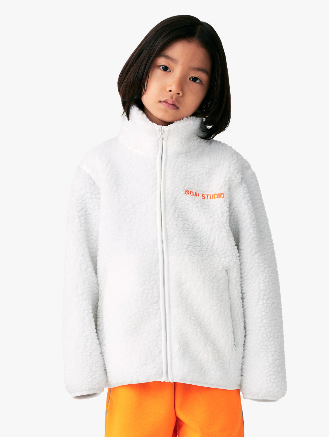 (KIDS) SHERPA FLEECE FULL ZIP JACKET (3 Colors)