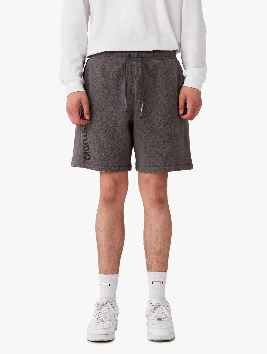NYLON METAL MIXED FLEECE SHORTS (2 Colors)