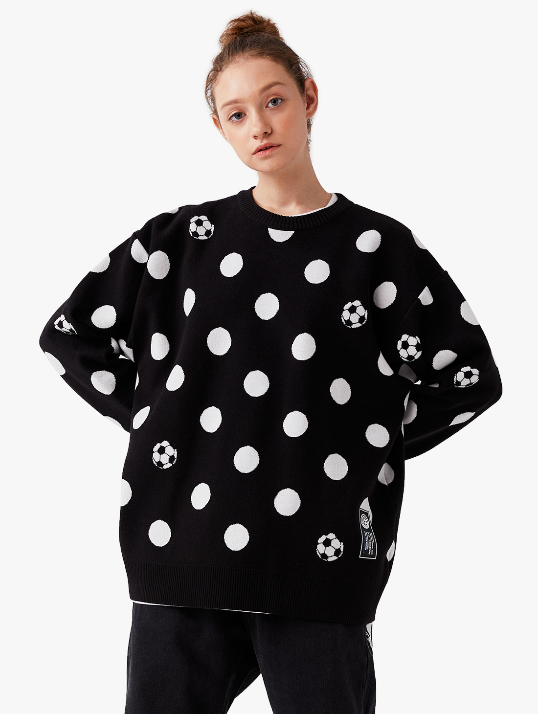 CFC DOT PIXEL KNIT SWEATER