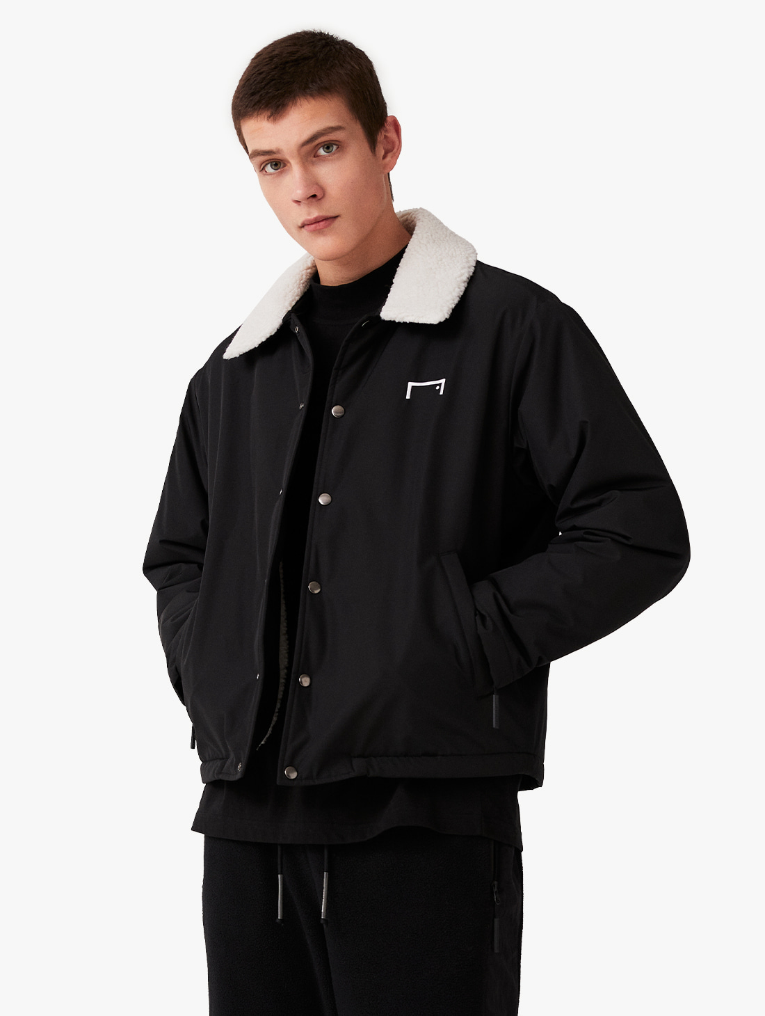 SHERPA COLLAR COACH JACKET