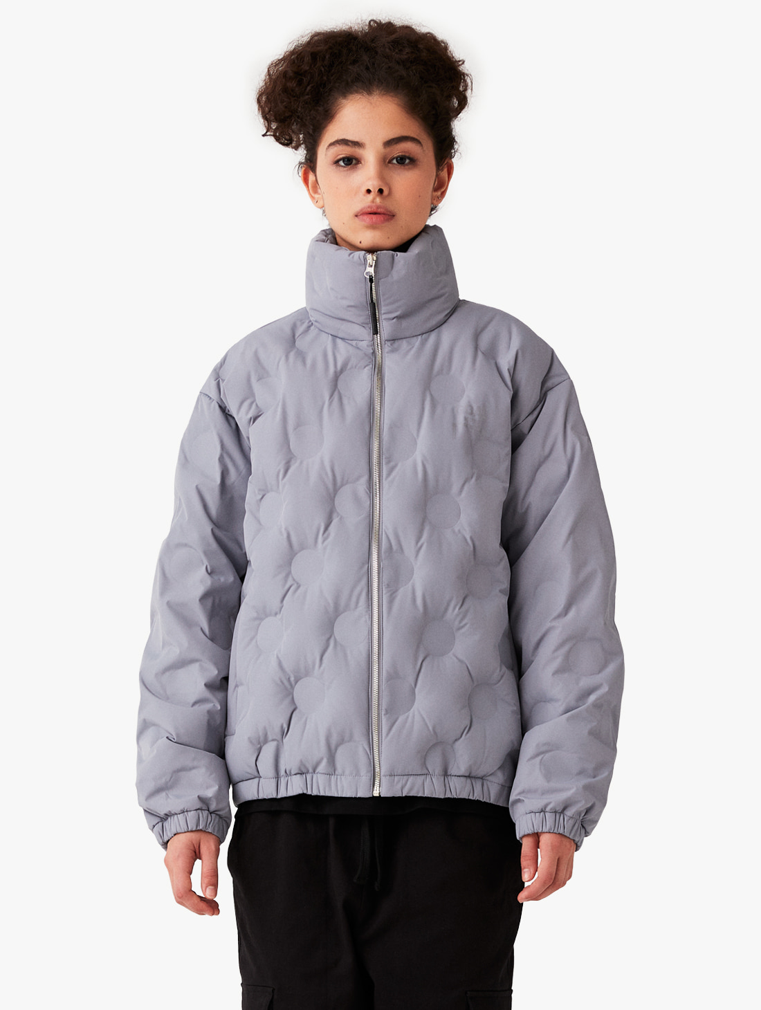 EMBOSSING LIGHT DOWN JACKET - GREY