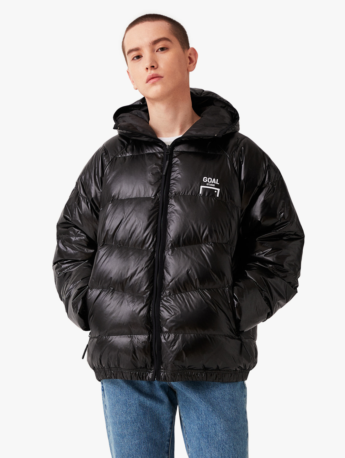 BACK LOGO LIGHT DOWN JACKET (3 Colors)