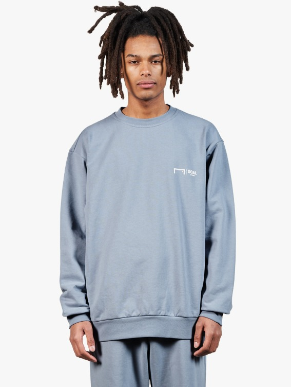SIGNATURE LOGO SWEATSHIRT - BLUE GREY