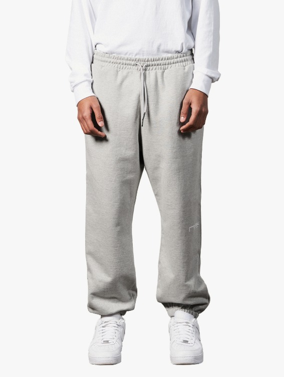 SIGNATURE LOGO PANTS - MELANGE GREY