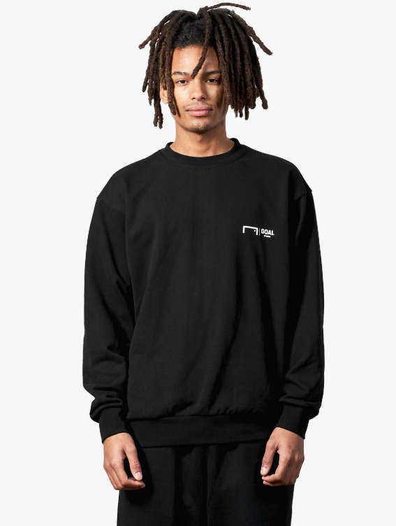 SIGNATURE LOGO SWEATSHIRT - BLACK