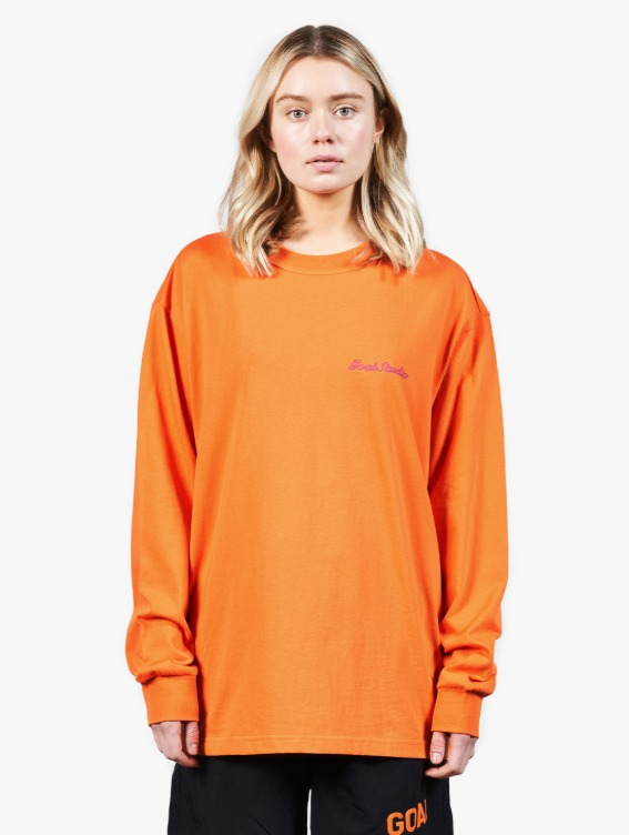 HEART BALL GRAPHIC LONG SLEEVE TEE - ORANGE