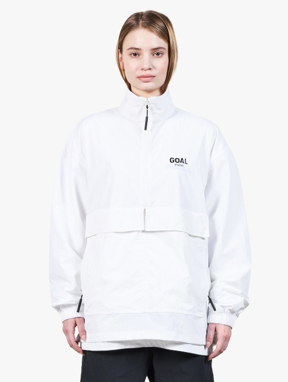 TWO POCKET ANORAK - WHITE