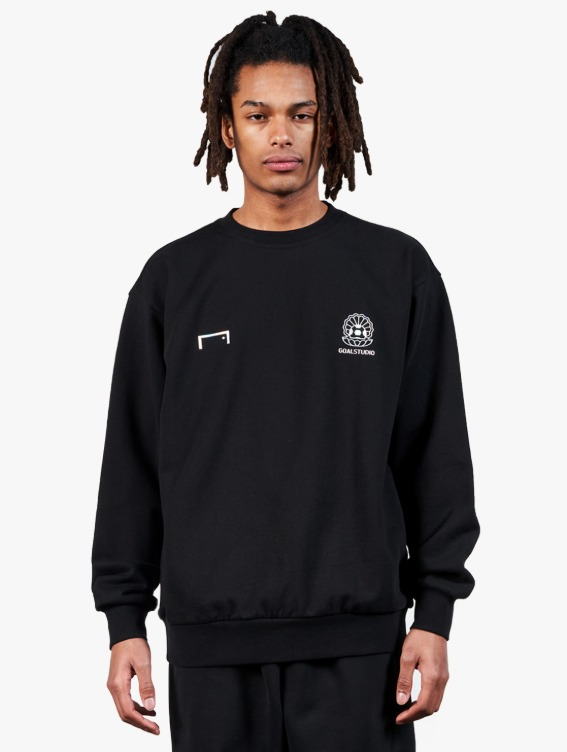 PEARL BALL PATCH SWEATSHIRT - BLACK