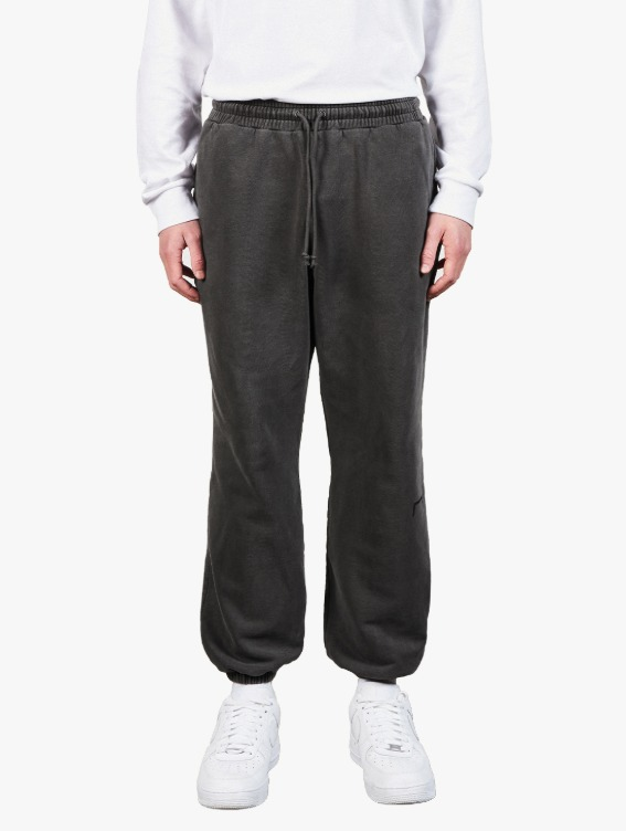PIGMENT DYE JOGGER PANTS - DARK GREY