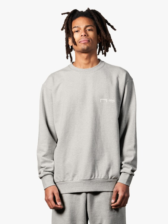 SIGNATURE LOGO SWEATSHIRT - MELANGE GREY