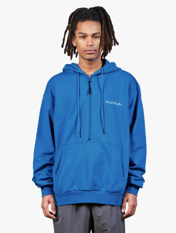 HEART BALL GRAPHIC HOODIE - BLUE