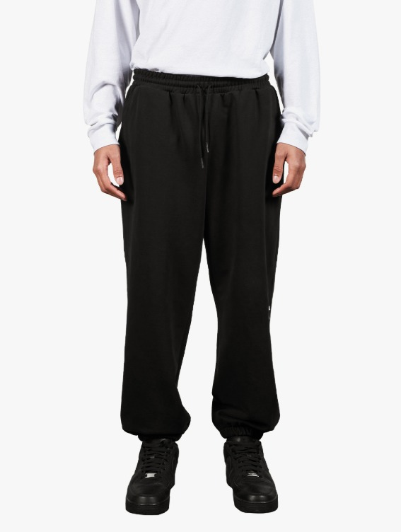 SIGNATURE LOGO PANTS - BLACK