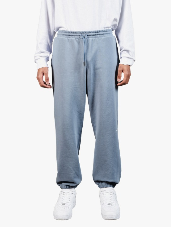 SIGNATURE LOGO PANTS - BLUE GREY