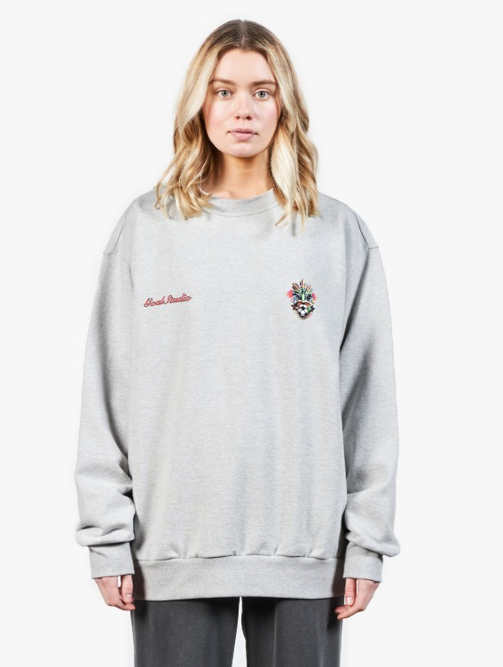 HEART BALL SWEATSHIRT - MELANGE GREY