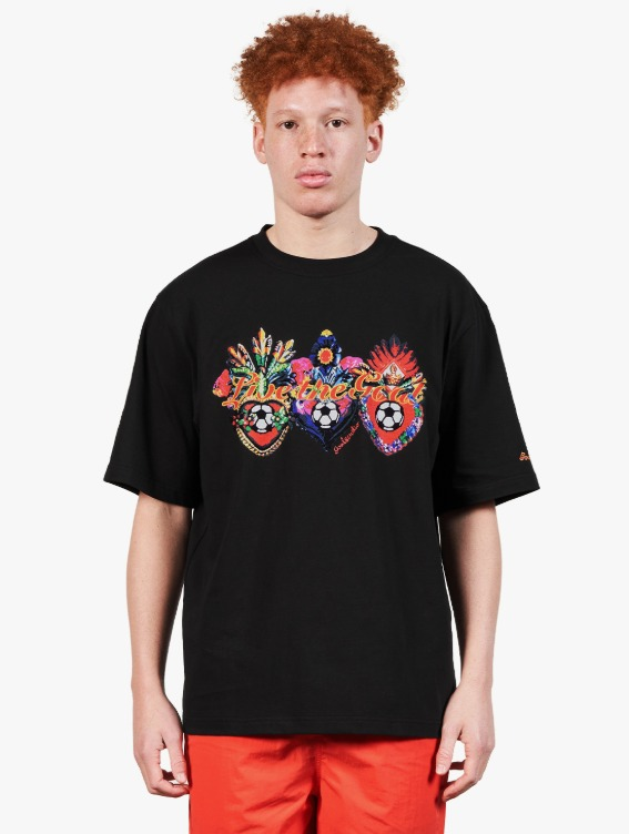 HEART BALL GRAPHIC TEE - BLACK