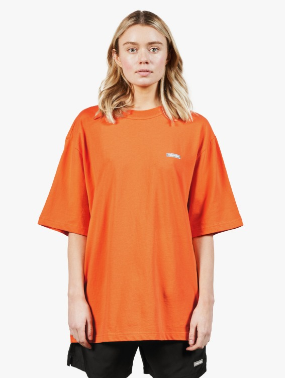CAMOUFLAGE GOALPOST LOGO TEE - ORANGE