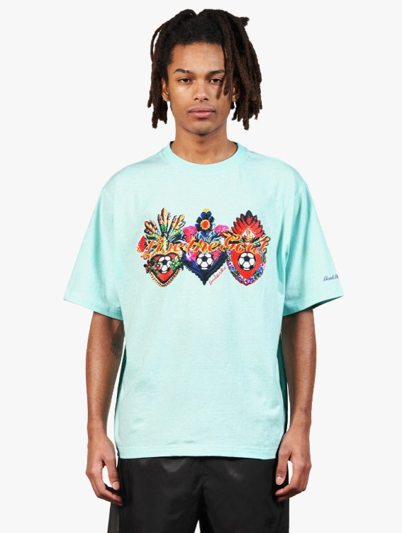 HEART BALL GRAPHIC TEE - SKY BLUE