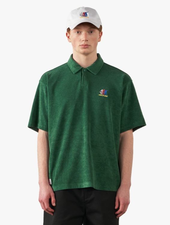 FREE KICK CAPSULE TERRY POLO SHIRT - GREEN