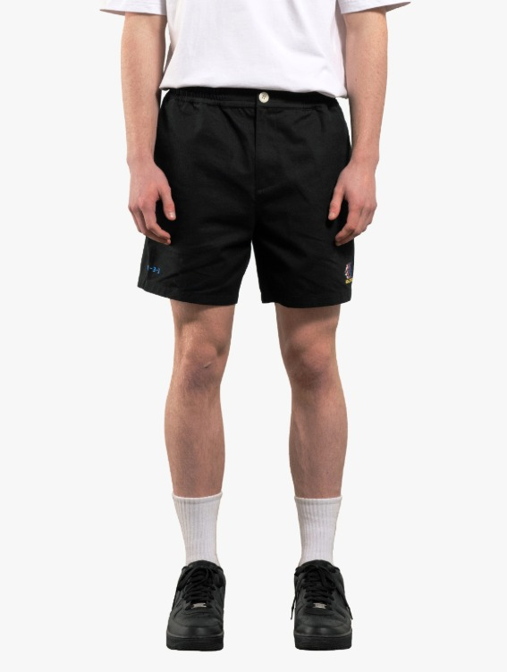 FREE KICK CAPSULE COTTON CHINO SHORTS - BLACK