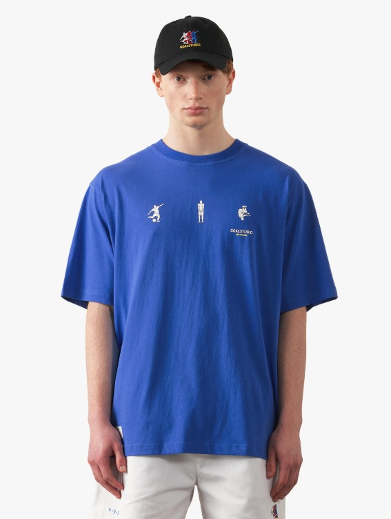 FREE KICK CAPSULE FOOTBALL POSITION TEE - BLUE